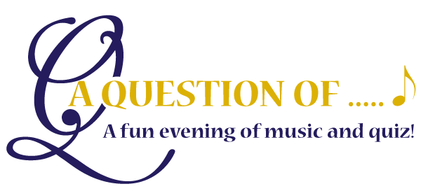 "Logo for ""A Question of..."", a fun evening of music and quiz presented by Winslow Concert Band in conjunction with Motor Neurone Disease Association (MK branch) and the Winslow Anglo French Twinning Association"