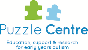 Logo of Puzzle Centre, education, support and research for early years autism
